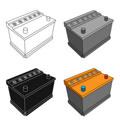 for automobile batterycar single icon in cartoon vector image