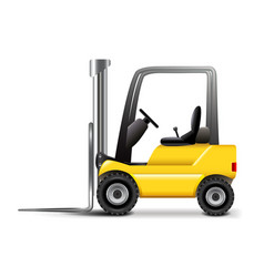 Forklift isolated on white vector image