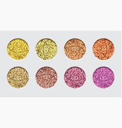 Glitter eyeshadow tinsel shimmer lipstick vector