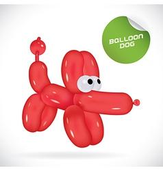 Glossy Balloon Dog vector image