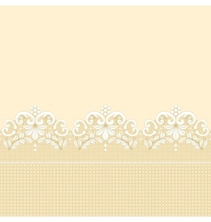 Golden lace border vector