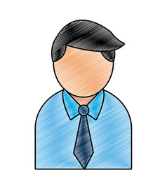 grated professional businessman with shirt and vector image