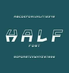 half font alphabet vector image