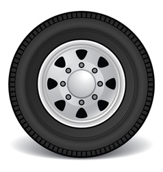 Heavy duty truck rim vector