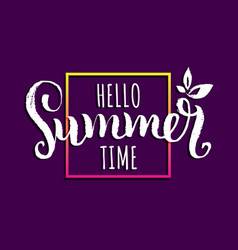 Hello summer time background vector