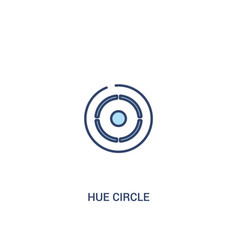 Hue circle concept 2 colored icon simple line vector