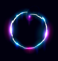 Illuminated collapsing circle design element vector