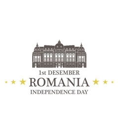 Independence Day Romania vector image