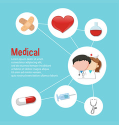 Infographic design for medical theme vector
