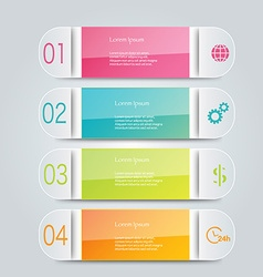 Infographic template with step options for vector image