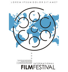 international film festival minimal poster design vector image