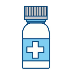 isolated medicine liquid bottle vector image