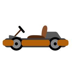 Isolated racing car kart vector