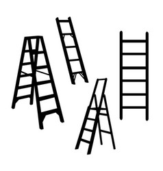 ladder silhouette isolated vector image