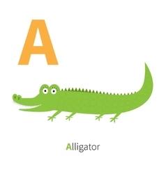 Letter a alligator zoo alphabet english abc vector