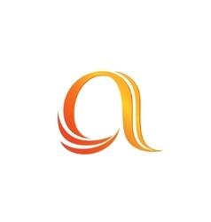 Letter A logo design template vector image