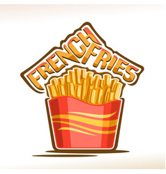 logo for french fries vector image