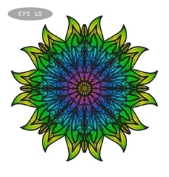 Mandala Coloring 3 vector