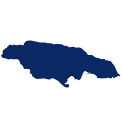 Map jamaica in blue colour vector