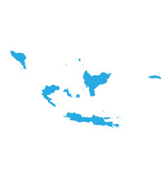 map of indonesia high detailed map - indonesia vector image