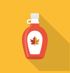Maple syrup bottle icon vector