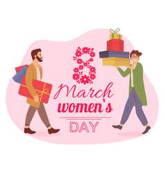Men are prepairing for international women s day vector