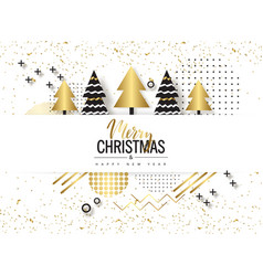 Merry christmas and happy new year trendy vector