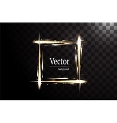 Neon square banner isolated vector
