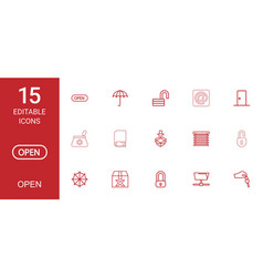 open icons vector image
