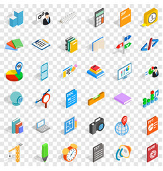 Pencil icons set isometric style vector