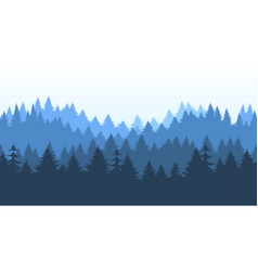 Pines forest panorama pattern vector