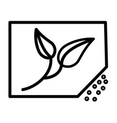 planting of seeds thin line icon 48x48 vector image