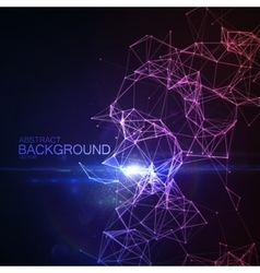 Plexus Lines And Particles Background vector image