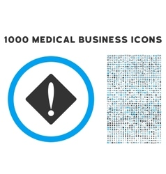 Problem Icon with 1000 Medical Business Symbols vector
