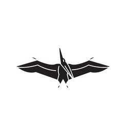 pteranodon black concept icon pteranodon vector image