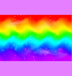 rainbow wave background mermaid unicorn galaxy vector image