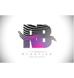 Rb r b zebra texture letter logo design vector