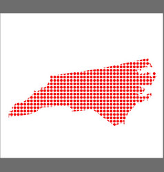 red dot map of north carolina vector image