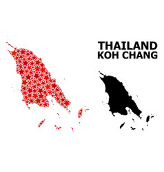 Red star pattern map koh chang vector