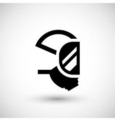 Respirator mask icon vector