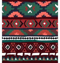 Seamless geometric pattern ethnic aztec tropical vector