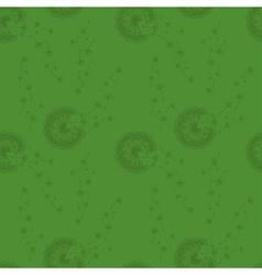 Seamless pattern dandelions vector