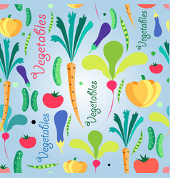 seamless pattern vegetables vector image