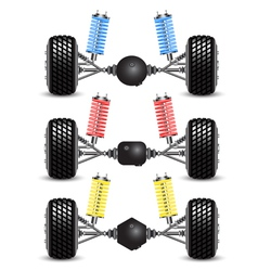 Set car rear suspension vector image vector image