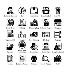 Shopping icons set 3 vector