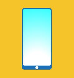 smartfon flat icon vector image