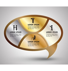 Speech gold template for business people incumbenc vector