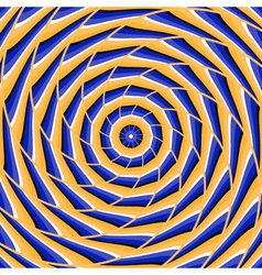 Spiral twisting to center Abstract optical vector