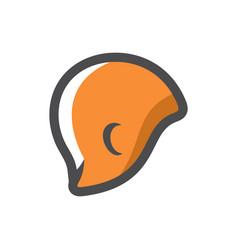 Swimming orange cap icon cartoon vector