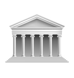 Temple with colonnade vector image